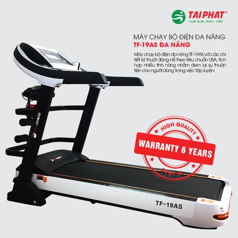 Máy chạy bộ Tech Fitness TF-19AS bảo hành 6 năm.