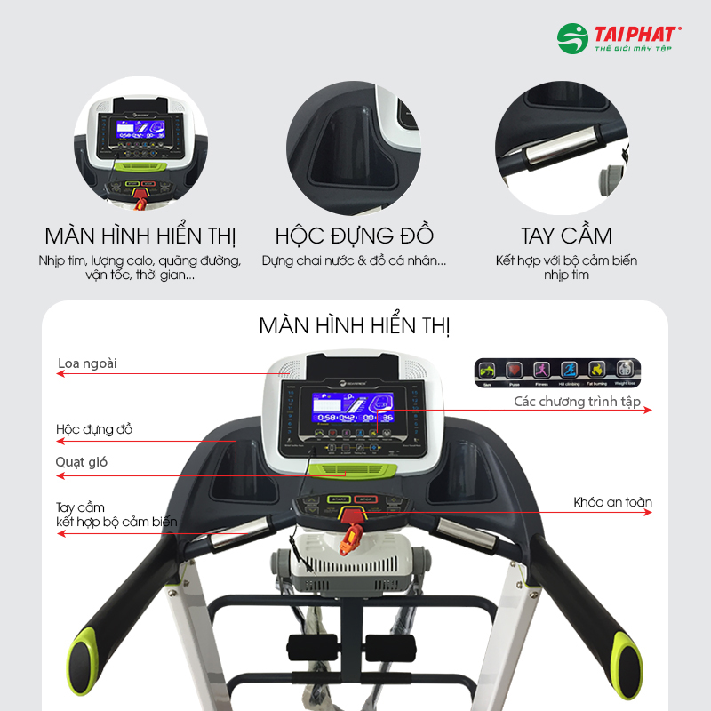 Màn hình hiển thị máy chạy bộ Tech Fitness TF-22AS