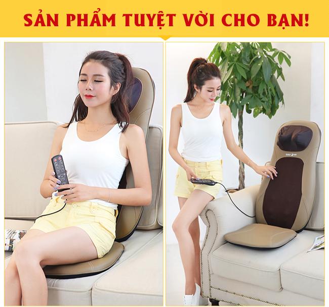 Sản phẩm đệm ghế massage nhỏ gọn, tiện dụng trong di chuyển, massage thư giãn.