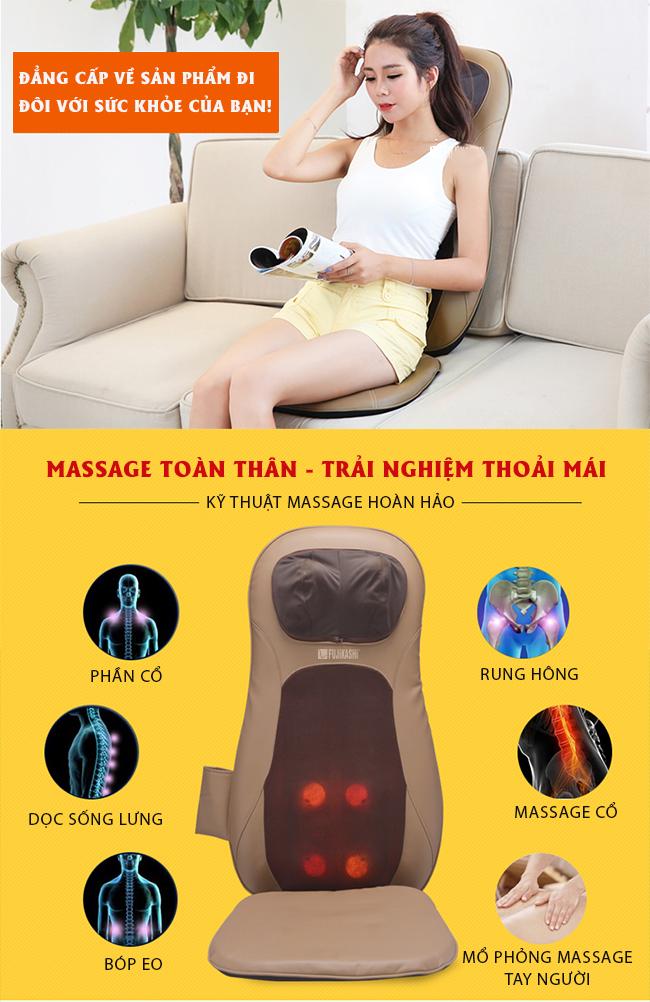 Đệm ghế massage tiện dụng cho mọi loại ghế ngồi.
