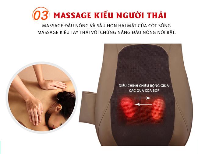RK-978 với massage đầu nóng và sâu hơn cho vùng cột sống, vai, gáy.