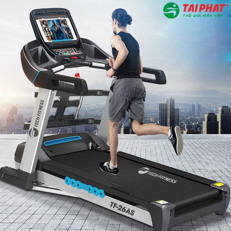 Máy chạy bộ phòng Gym Tech Fitness Tf-26AS hiện đại và sang trọng.