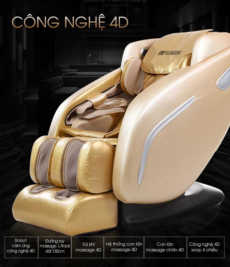Ghế massage Fujikashi F-88 mang đến trải nghiệm massage tuyệt vời nhất cho người dùng.