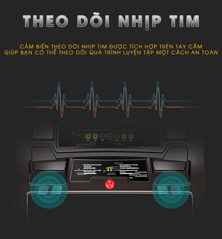 Tech Fitness TF-168 có thể theo dõi nhịp tim.