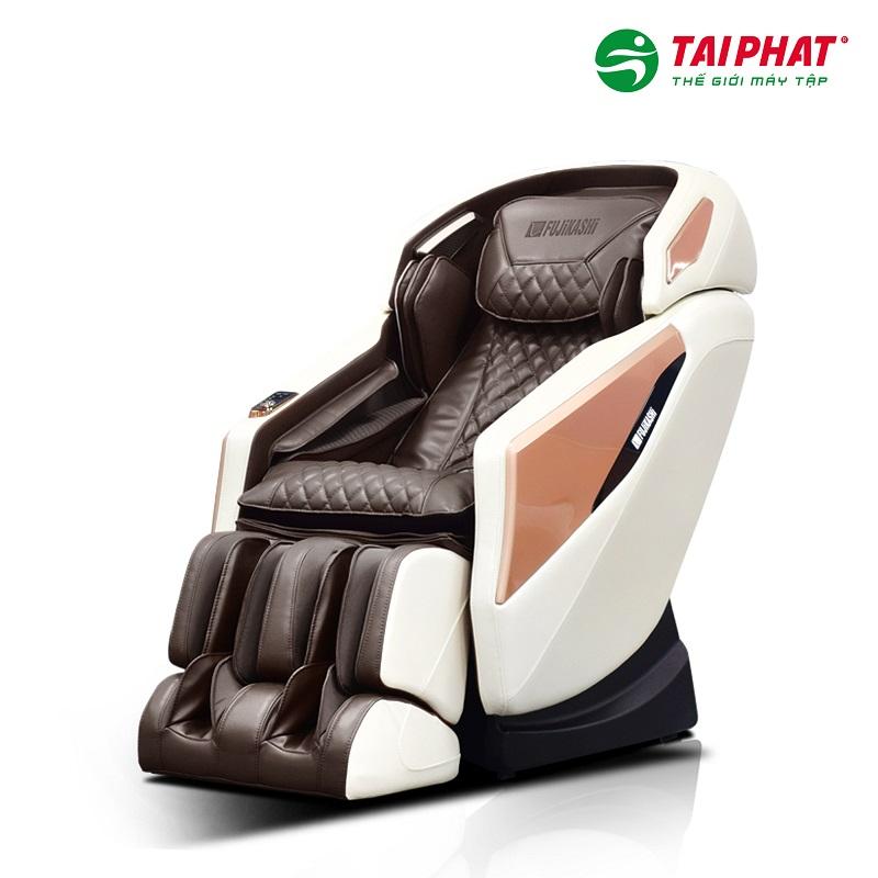 Ghế massage FJ-5000 phiên bản be nâu với gam màu sang trọng hiện đại.