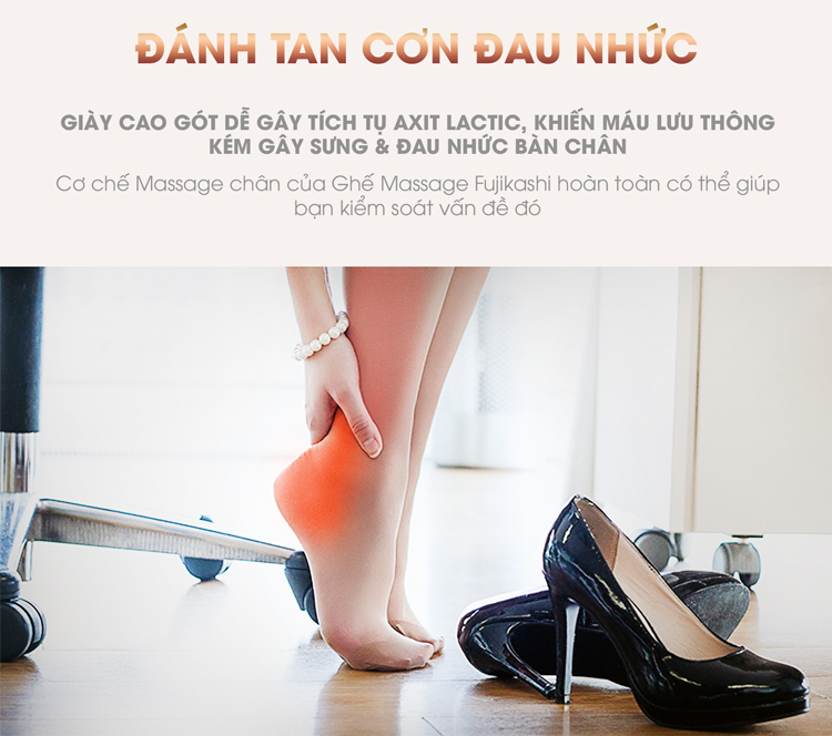 Đôi chân được bảo vệ bởi chương trình massage chuẩn xác.