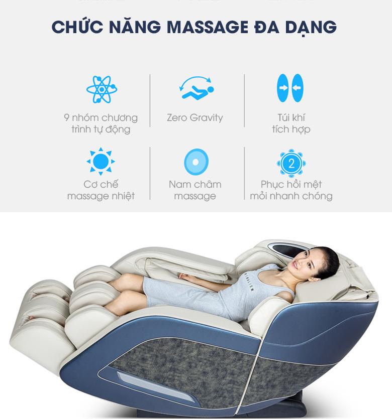 Bạn sẽ có thêm nhiều lựa chọn hơn với ghế massage toàn thân Fujikashi Fj-3000.