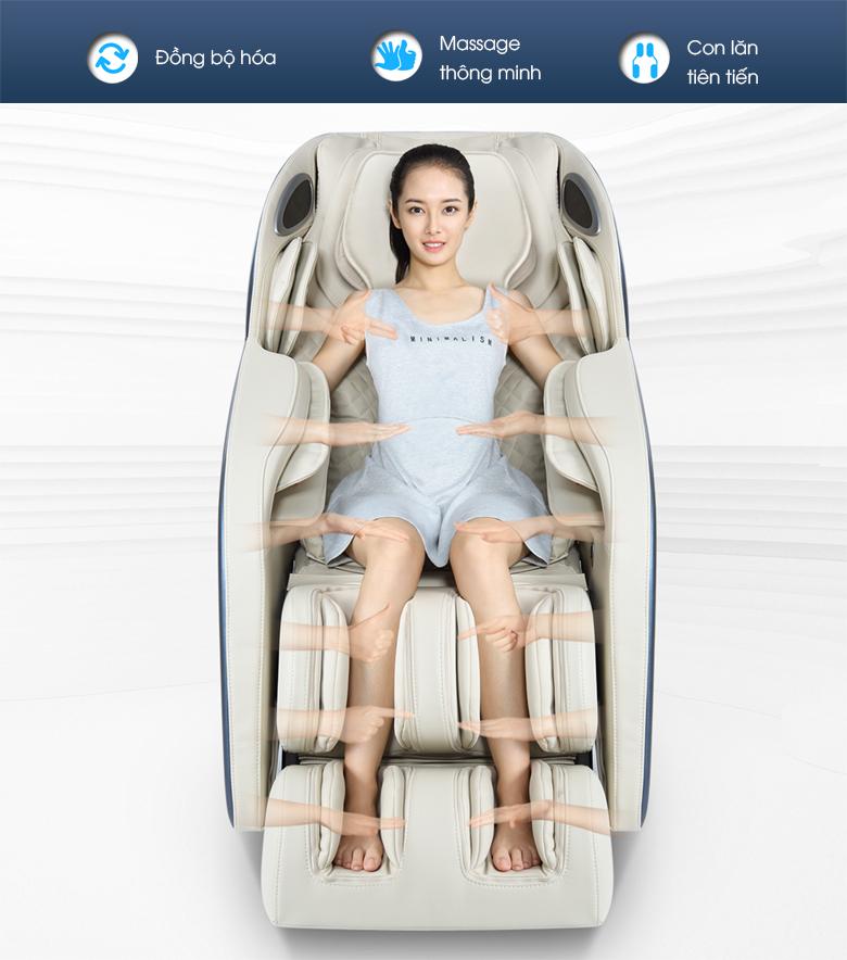 Ghế massage thông minh với kỹ thuật massage bậc thầy.