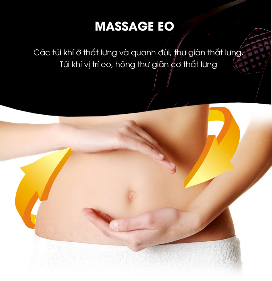 Vùng thắt lưng được chăm sóc kỹ lượng bởi nhiều tính năng massage.