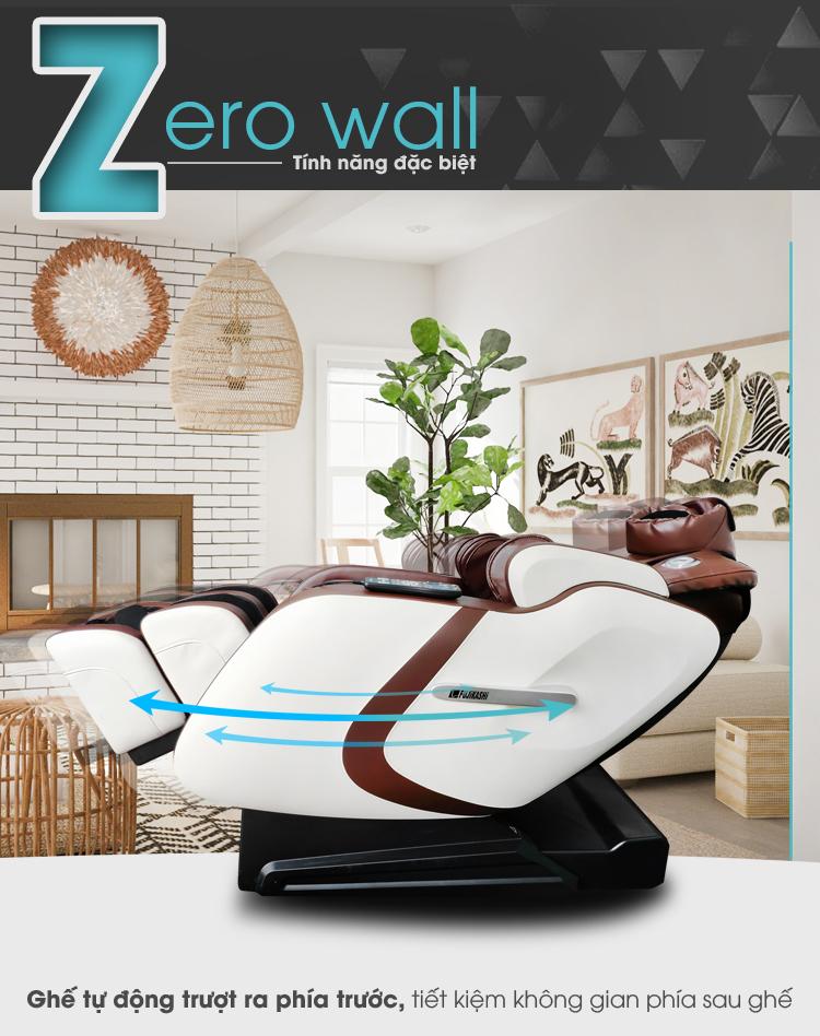 Tính năng Zero Wall thông minh giúp tiết kiệm tối ưu không gian.