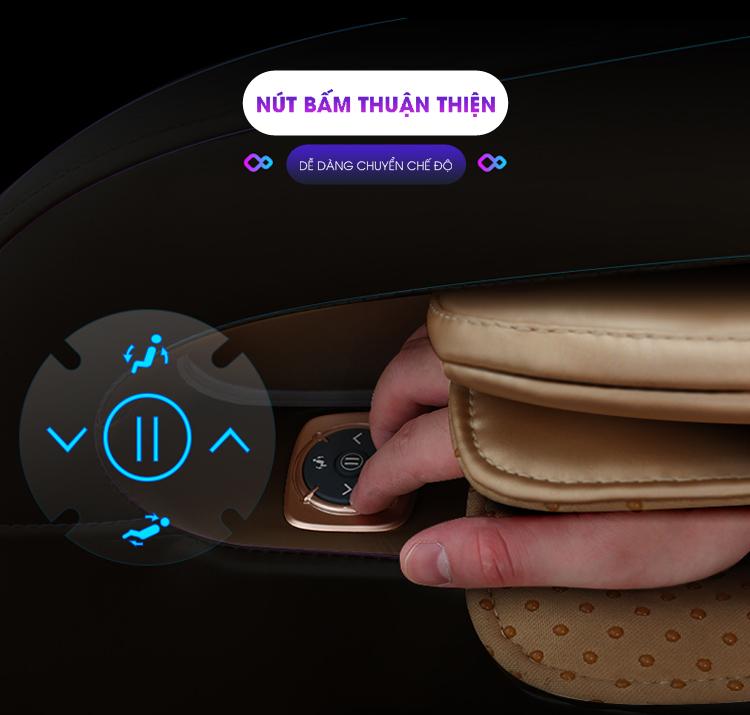 Thiết kế nút bấm thuận tiện cho người dùng.