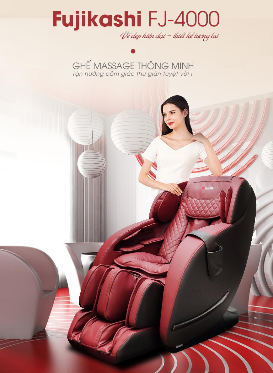 Fujikashi FJ-4000 - mẫu ghế massage toàn thân đáng dùng nhất trong tương lai.