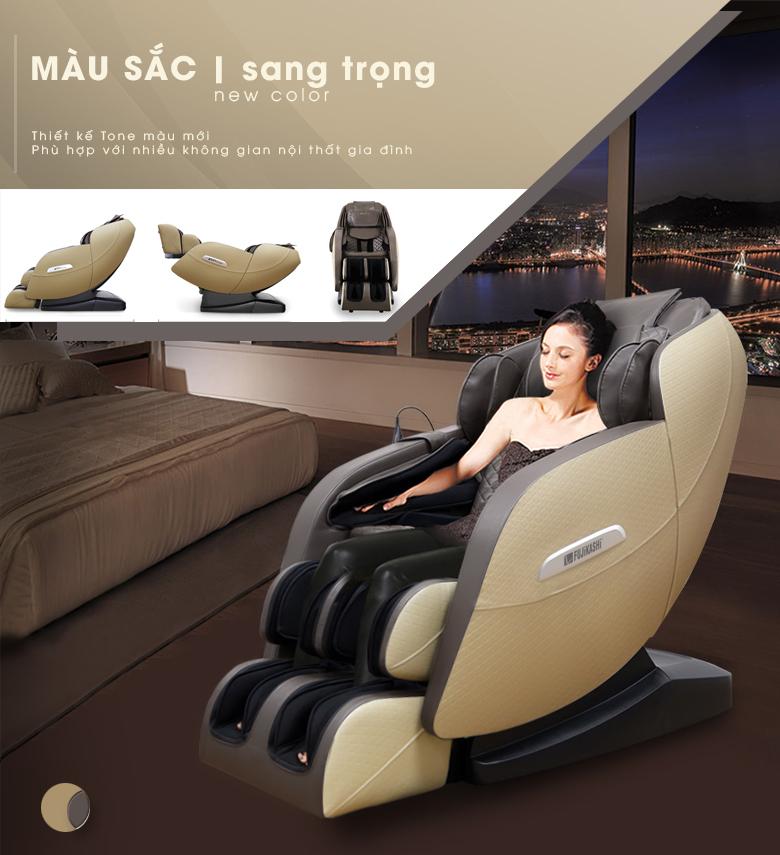 Ghế massage Fujikashi Fj-4500 với gam màu mới tinh tế và lịch thiệp.
