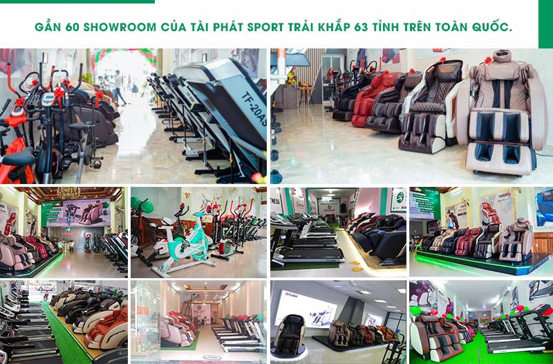Hệ thống showroom của Tài Phát Sport.