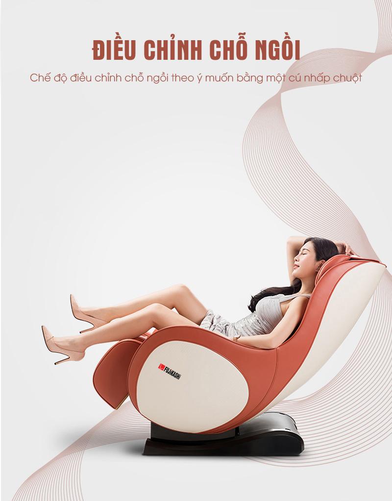 Bạn có thể ngả ghế ra sau để nằm nghỉ ngơi.
