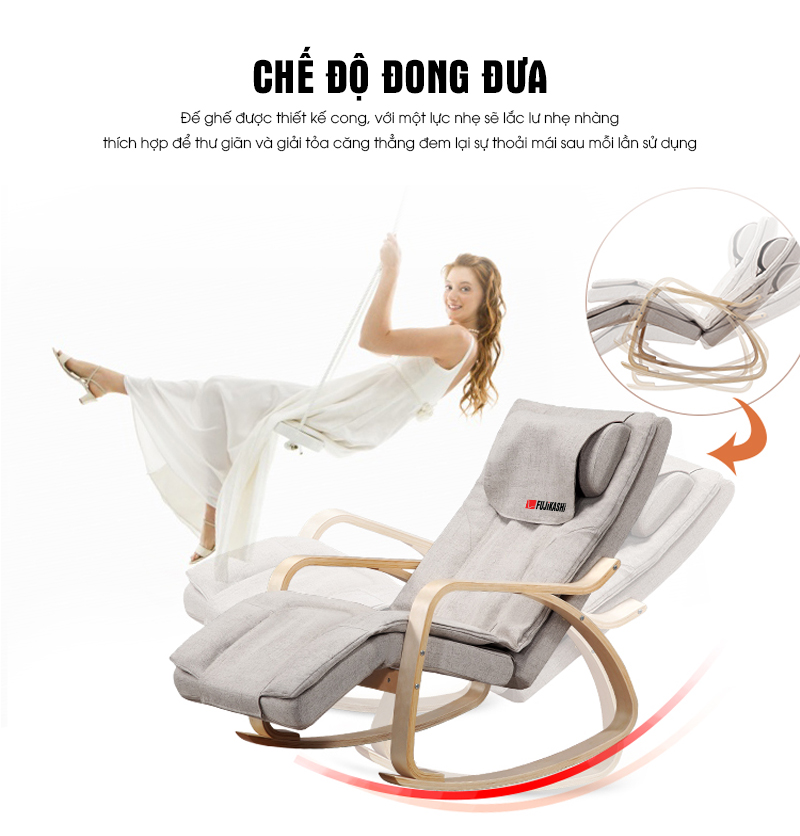 Chân ghế bo góc tư nhiên tạo bập bênh, bồng bềnh khi nằm nghỉ ngơi.