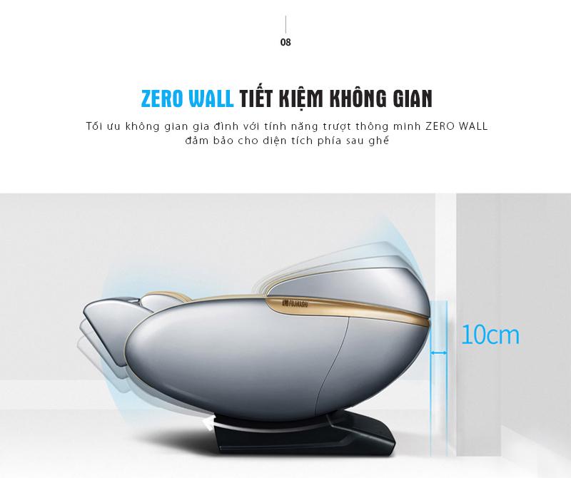 Tính năng lùi tường giúp tiết kiệm không gian sống.