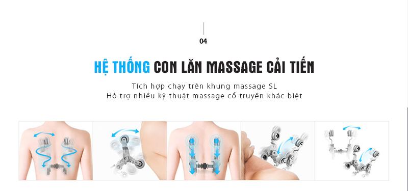 Con lăn massage công nghệ cao