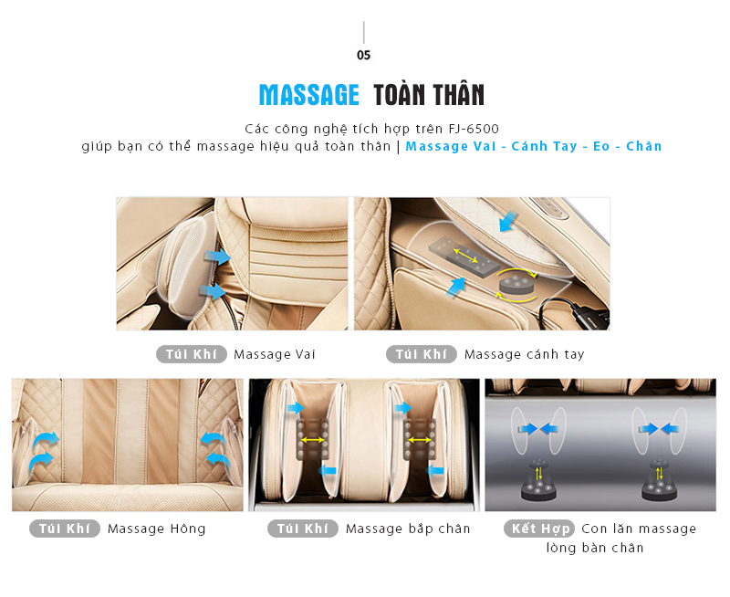 Túi khí massage toàn thân