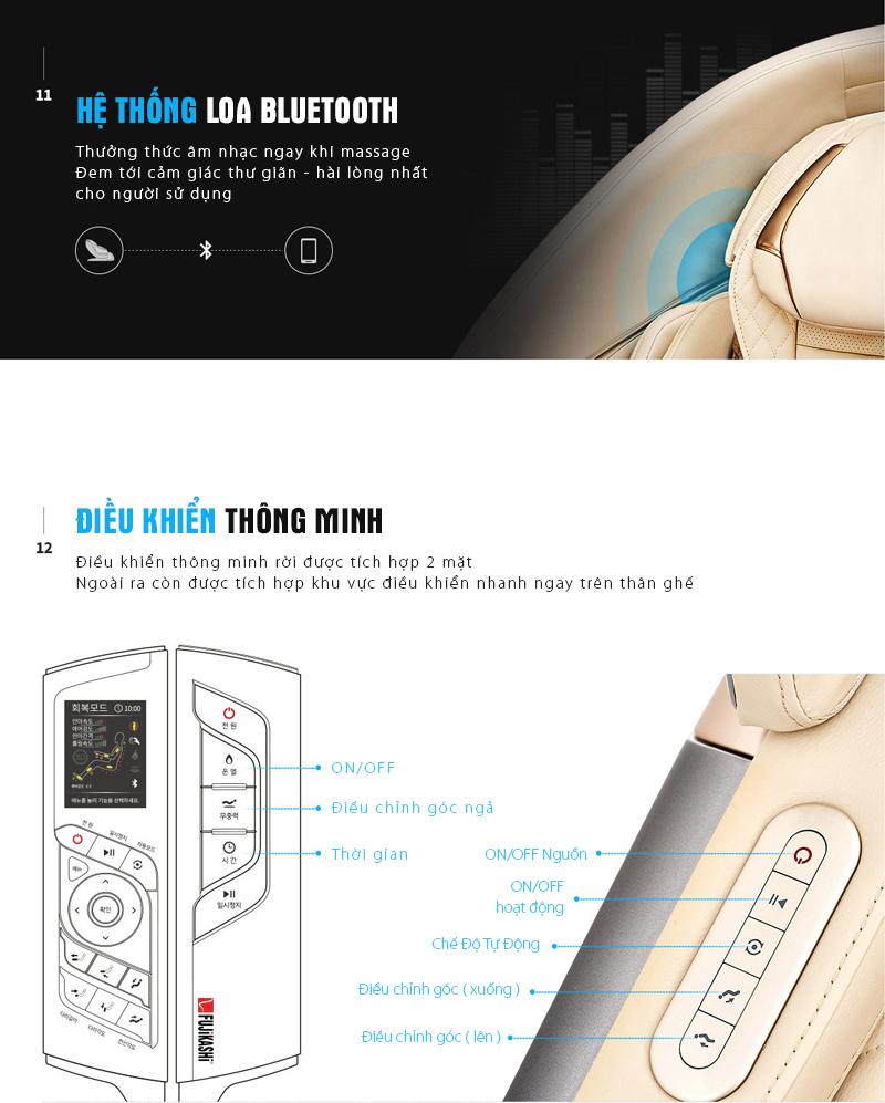 Hệ thống điều khiển tự động và loa nghe nhạc.